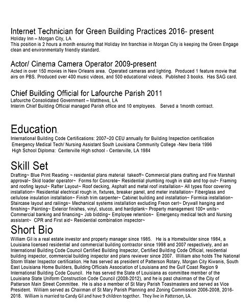 William Gil Certifiations and resume 06