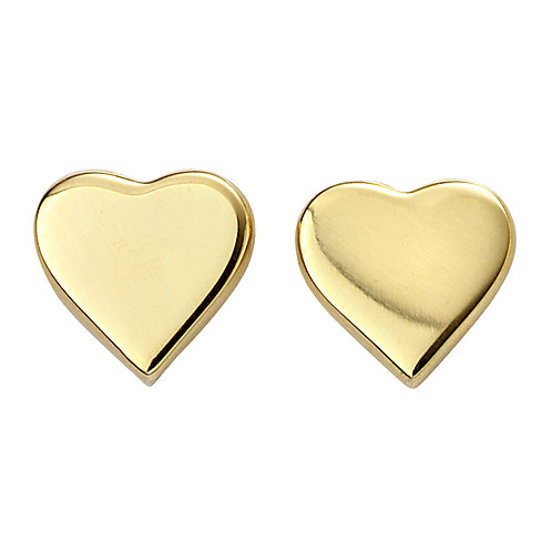 Gold Plated Heart Studs