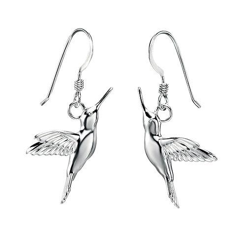 Hummingbird Sterling Silver Drop Earrings