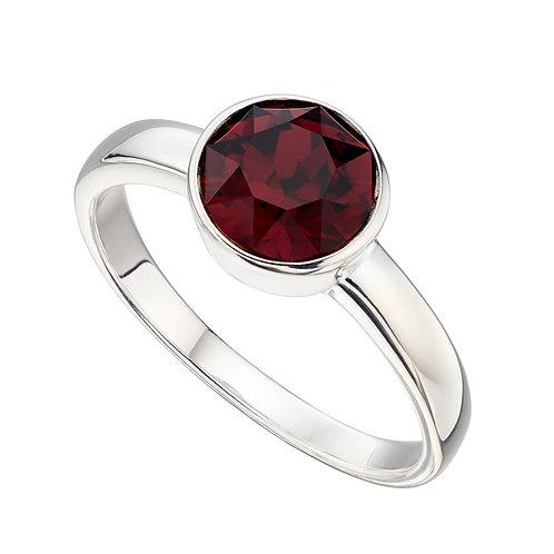 Sterling Silver Birthstone Ring with Crystal by Swarovski®