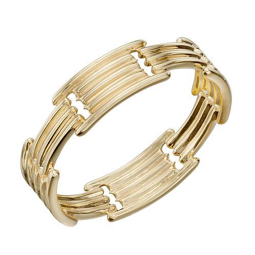Column Long Bar Ring in 9ct Yellow Gold
