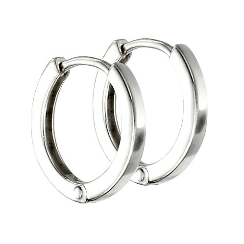 Mini Flat Profile Huggie Hoops