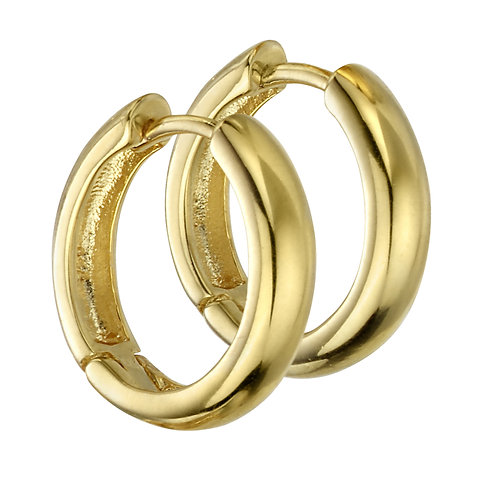 Gold Plated Medium Hoops
