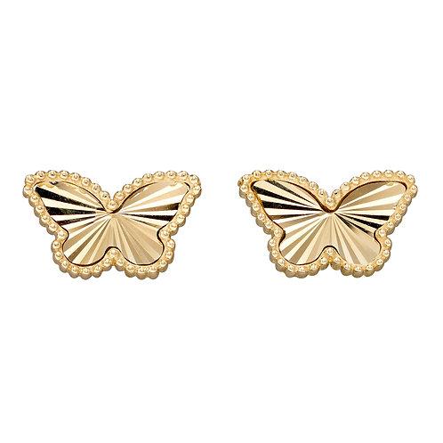 Butterfly Earrings in 9ct Yellow Gold