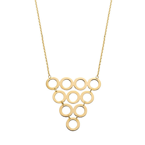 9ct Gold Multi Circle Necklace