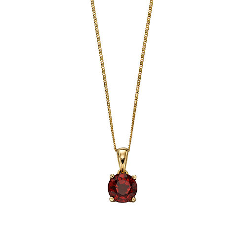 9ct Yellow Gold Birthstone Necklace