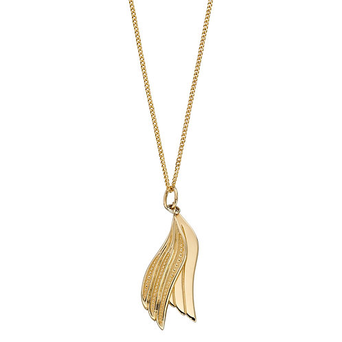 Wings Necklace in 9ct Yellow Gold
