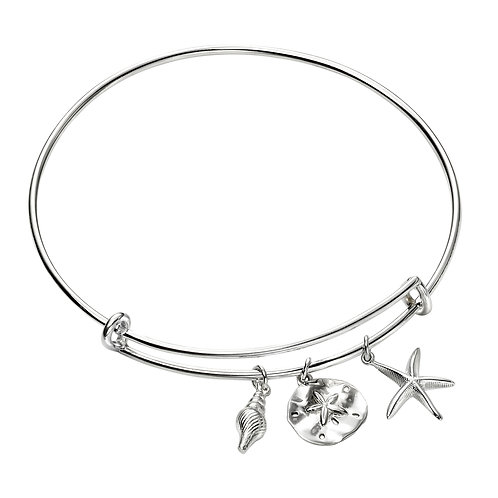 Beach Inspired Charm Bangle