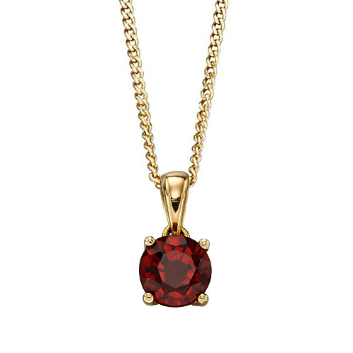 9ct Gold Birthstone Pendant Necklace