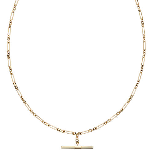 T-Bar Chain Necklace in 9ct Yellow Gold