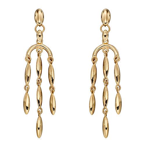 Cascading Drop Earrings in 9ct Yellow Gold