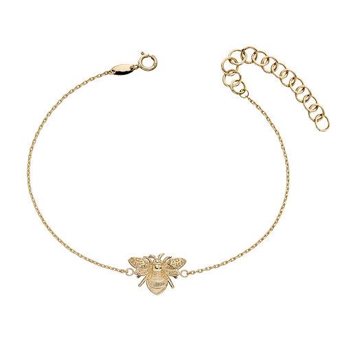 9ct Gold Bee Bracelet