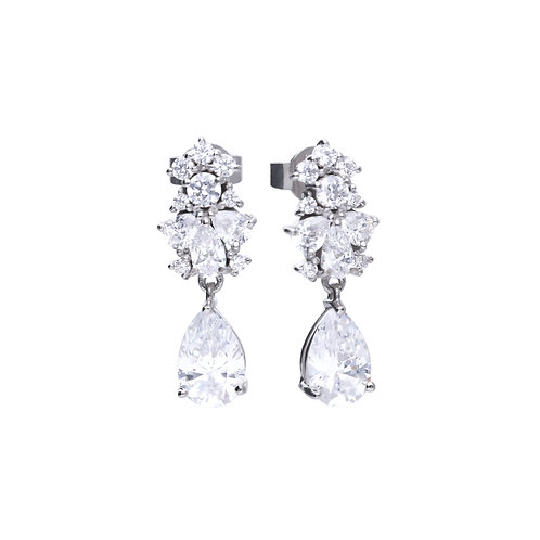 Pear Drop Zirconia Diamonfire Earrings