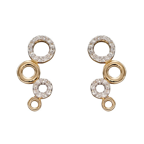 Diamond Bubble Earrings in 9ct Yellow Gold