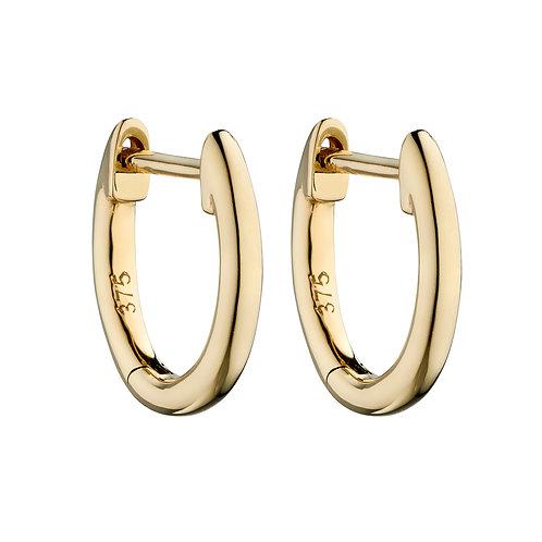 9ct Gold Huggie Earrings 11mm