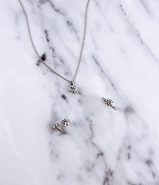 Diamonfire jewellery, claw set solitaire earrings, claw set solitaire necklace, matching necklace and earrings, diamond alternative, solitaire gems, solitaire ring