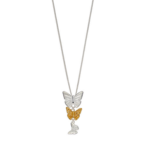 Butterfly Pendant With Yellow Gold Plating