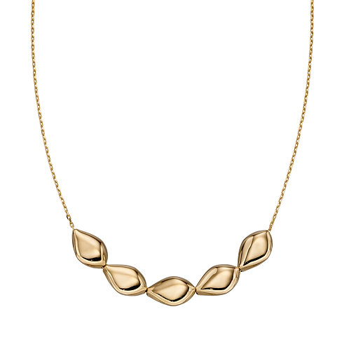 9ct Gold Multi Pebble Necklace