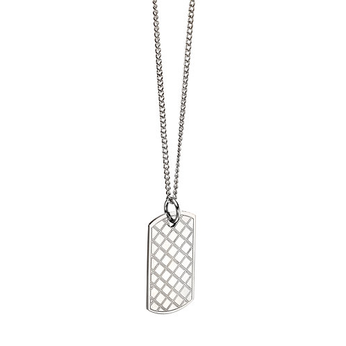 Criss Cross Dog Tag Necklace