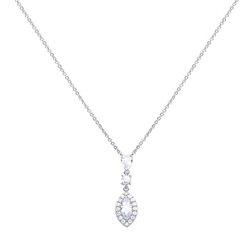 Marquise And Pave Diamonfire Zirconia Necklace