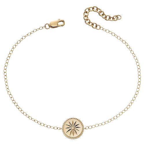 Wellness Symbol Bracelet in 9ct Yellow Gold