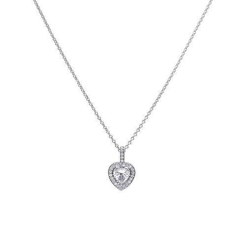 Heart Pave Set Pendant With Diamonfire Cubic Zirconia