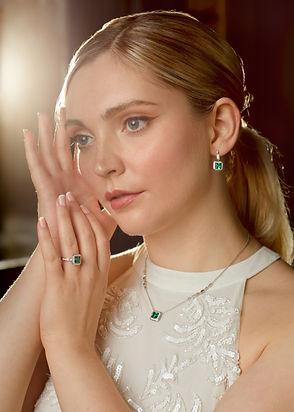 Royal Jewellery with Green Diamonfire cubic zirconia