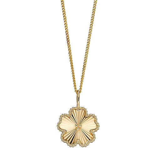Flower Necklace in 9ct Yellow Gold
