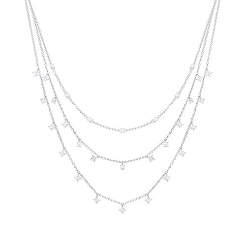 Triple Row Diamonfire Zirconia Necklace