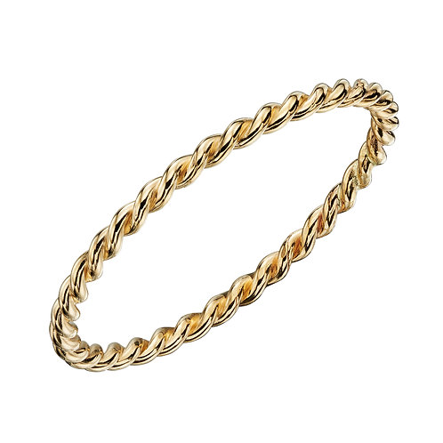 Twisted Band Ring in 9ct Yellow Gold