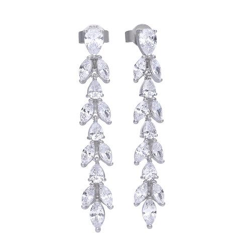 Vine Drop Diamonfire Zirconia Earrings