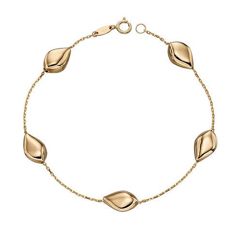 9ct Gold Multi Pebble Bracelet