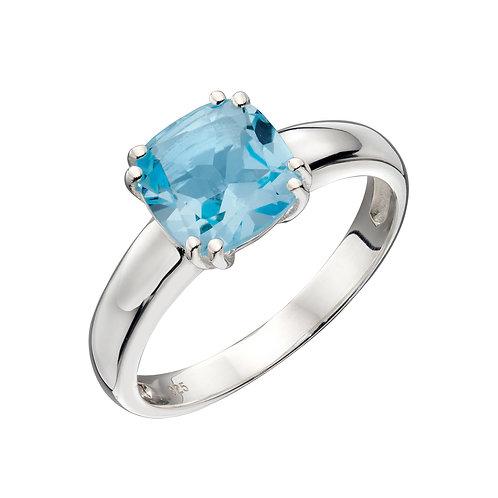 Cushion Cut Ring With Semi Precious Stone