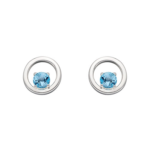 Round Earrings With Semi Precious Stones