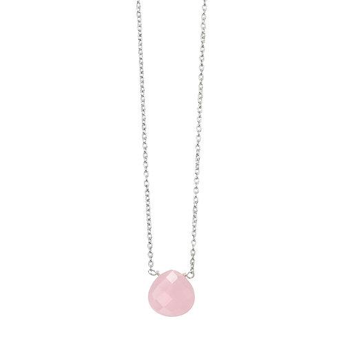Teardrop Coloured Stone Necklace