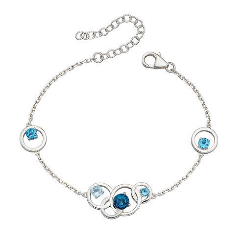 Round Bracelet With Semi Precious Stones