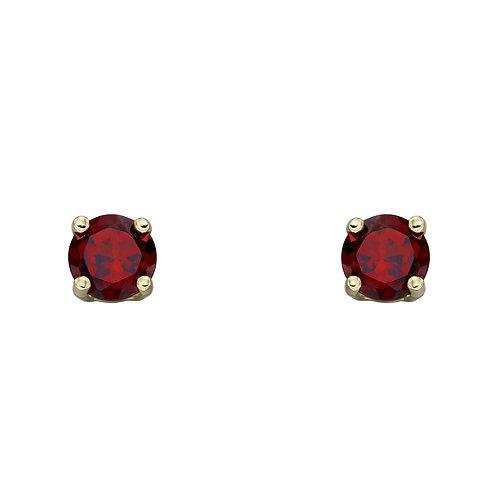 9ct Gold Birthstone Stud Earrings