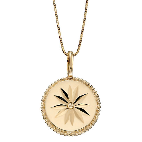 Wellness Symbol Necklace in 9ct Yellow Gold