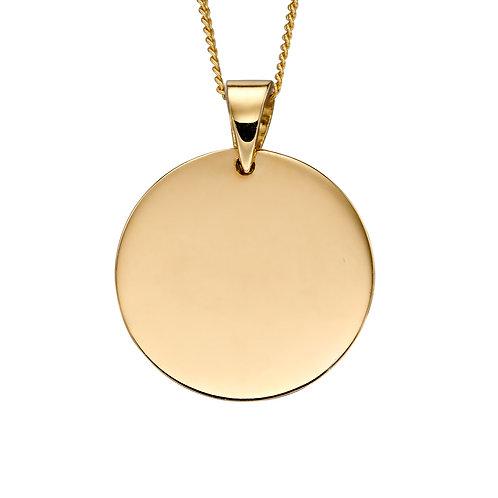 Gold Plain Disc Necklace