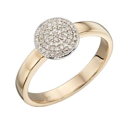 Full Circle Diamond Ring in 9ct Yellow Gold