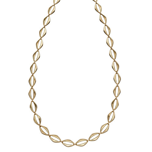 Open Eye Link Necklace in 9ct Yellow Gold