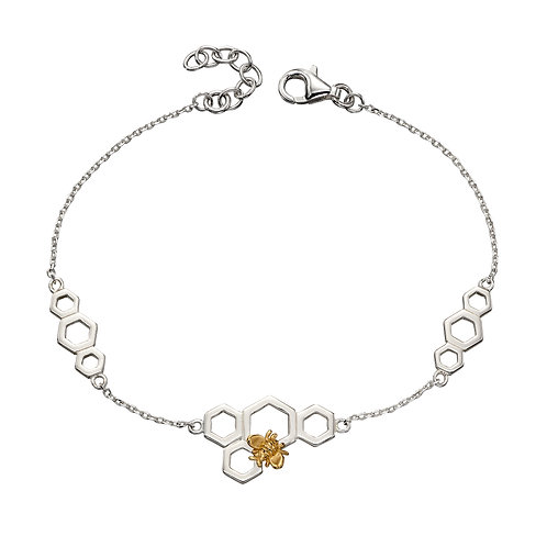 Bee and Honeycomb Mix Plate Bracelet