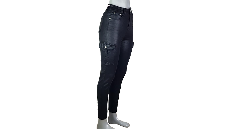 (High Waist Skinny) LD Style Jeans LederOptik