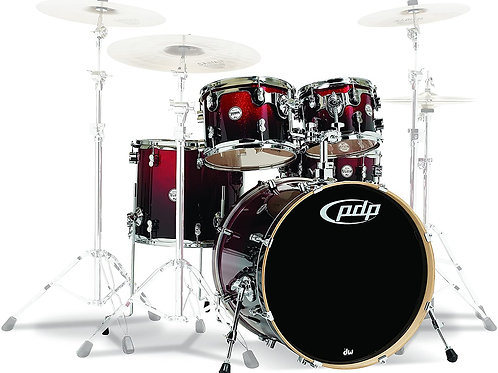 PDP Concept Maple 5-Piece Shell Pack Red To Black Fade