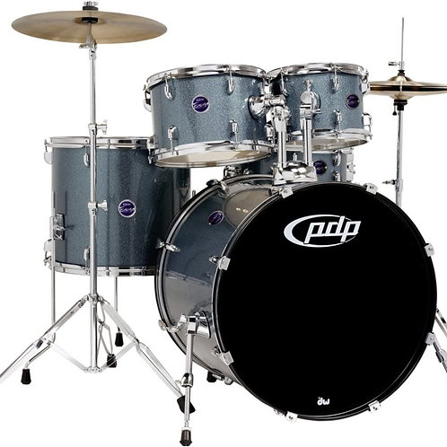 PDP Encore 5-Piece Drum Kit with Hardware and Cymbals Azure Blue