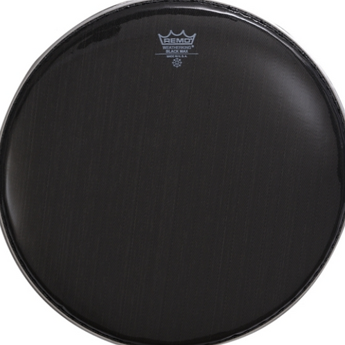Black Max Crimped Marching Snare Drum Head Ebony 13 in.