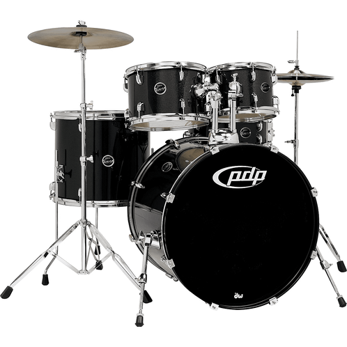 PDP Encore 5-Piece Drum Kit with Hardware and Cymbals Black