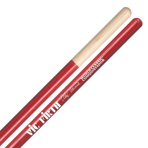 Vic Firth Alex Acuna Conquistador Timbale Sticks Red
