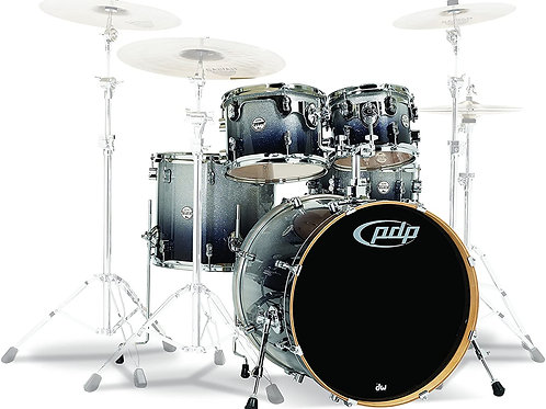 PDP Concept Maple 5-Piece Shell Pack Silver to Black Fade