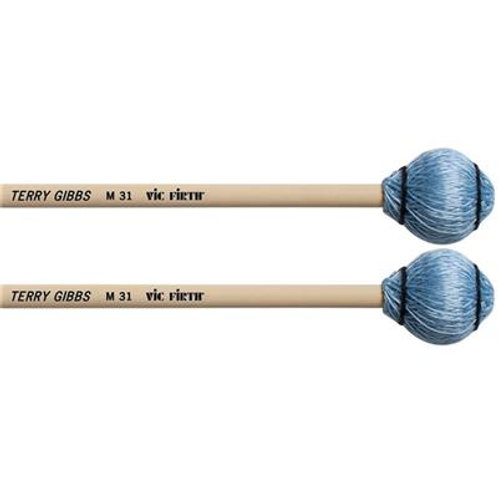 Vic Firth Terry Gibbs M31 Blue Cord Keyboard Mallets - Medium